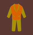 icon in flat design fashion clothes men business vector image