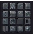 industrial element set metal panel vector image vector image