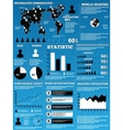 INFOGRAPHIC DEMOGRAPHIC MODERN vector image vector image