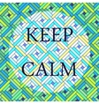 Keep calm vector image
