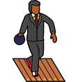 Man bowling vector image vector image