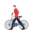 man riding bicycle vector image