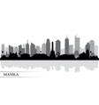 manila city skyline silhouette background vector image vector image