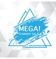 mega summer sale blue paint triangle frame white b vector image vector image