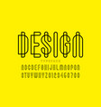 modern outline style font vector image vector image