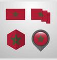 morocco flag design set vector image