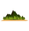 nature landscape scenery vector image