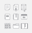 Office documents icons set vector image vector image