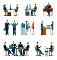 office worker icons vector image