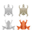 origami paper frogs and turtles vector image vector image