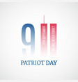 patriot day banner we will never forget vector image vector image