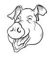 pig head sketch vector image vector image