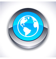 Planet 3d button vector image vector image
