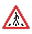 roadsigns on white crosswalk vector image vector image