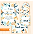 Save the Date card with Vintage floral frameRSVP vector image vector image