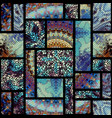 seamless mosaic pattern vector image vector image