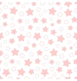 seamless pattern pink pentagonal stars vector image vector image