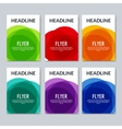 Set of colorful abstract banners flyers Graphic vector image vector image