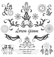 Set of decorative logos floral ornament style vector image vector image