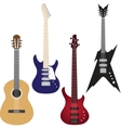 Set of guitars vector image