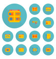 Set of website icons flat style symbols with