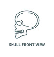 skull front view line icon linear concept vector image vector image