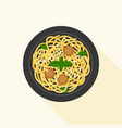 spaghetti bolognese or meat ball vector image