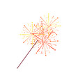 sparkler or bengal light isolated icon vector image vector image