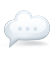 Speech Bubble Cloud vector image vector image