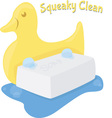 Squeaky Clean vector image