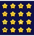 star emoticons collection Cute emoji set vector image