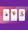 startup creative idea lightbulb concept mobile app vector image