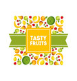 tasty fruits banner template design element can vector image vector image