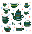 tea time colored vector image