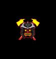 tiki samurai logo vector image