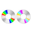 top view spectrum color cd disk on white vector image vector image