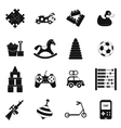 toys black simple icons set vector image vector image
