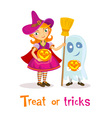 Treat or tricks vector image vector image