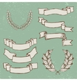 Vintage ribbons vector image