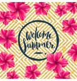 welcome summer vector image vector image
