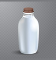 white glossy plastic bottle with screw cap for vector image vector image