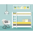with baby bedroom vector image