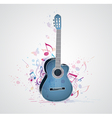blue guitar vector image