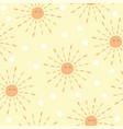 cartoon sun pattern - hand drawn doodle sun cute vector image