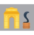India landmark travel and cobra snake vector image