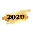 2020 new year golden shiny background design vector image