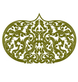 Asian art green color pattern on a white vector image vector image