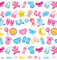 baby shower boy and girl decoration seamless vector image