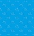 barbecue brush pattern seamless blue vector image vector image