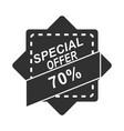 black friday special offer market sticker ribbon vector image vector image